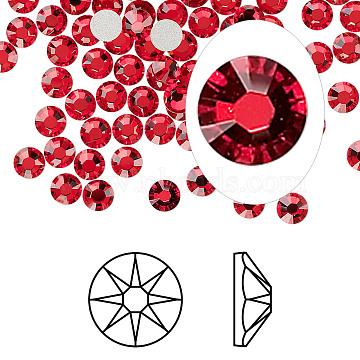 Austrian Crystal Rhinestone Cabochons, Crystal Passions, Foil Back, Xirius Rose, 2088, 227_Light Siam, 4.6~4.8mm(X-2088-SS20-227(F))