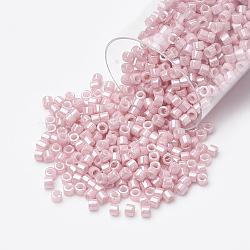 Miyuki® delica beads, perles de rocaille japonais, 11 / 0, (db 1907) lustre à l'eau de rose opaque, 1x1.5 mm, trou: 0.5 mm; sur 2000 pcs / bouteille(SEED-S015-DB-1907)
