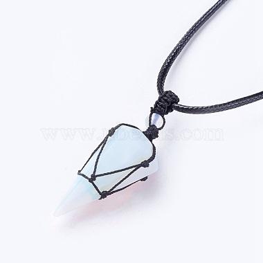 Opalite Pendants Necklaces(NJEW-E140-A10)-2