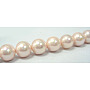 """Shell Pearl Beads Strands, Grade A, Polished, Round, Pink, 8mm, Hole: 0.8mm; about 47~50pcs/strand, 16"""""""