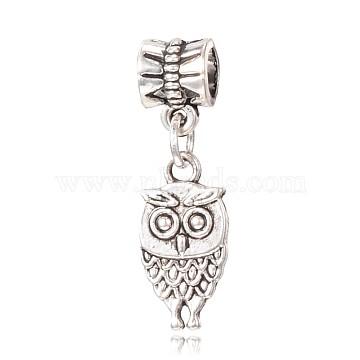 31mm Owl Alloy Dangle Beads