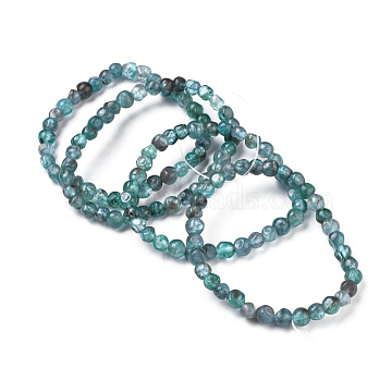 Natural Apatite Bead Stretch Bracelets, Tumbled Stone, Nuggets, 2~2-1/4 inches(5.2~5.6cm), Bead: 8~16.5x7~10mm(X-BJEW-K213-56)