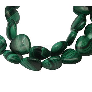 12mm Green Heart Malachite Beads