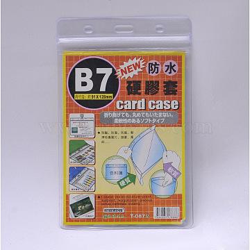 Plastic Badge Card Holders, Clear, 155x100mm; inner measure: 135x95mm(X-AJEW-R038-02)