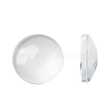 14mm Clear Flat Round Glass Cabochons
