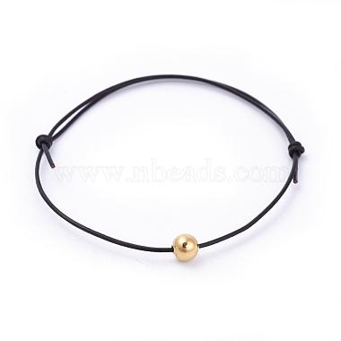Adjustable Cowhide Leather Cord Bracelets(BJEW-JB04373)-2