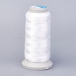 Fil de polyester, pour la fabrication de bijoux en fabrication, blanc, 1 mm; environ 230 m/rouleau(NWIR-K023-1mm-20)
