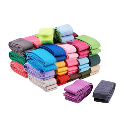 Colored Flat Elastic Rubber Band, Webbing Garment Sewing Accessories, Mixed Color, 25mm, about 0.98~1.09 yards(0.9~1m)/strand(EC-RD0001-01)