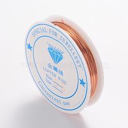Copper Jewelry Wire, Nickel Free, SandyBrown, 24 Gauge, 0.5mm; 9.5m/roll(CW0.5mm014)