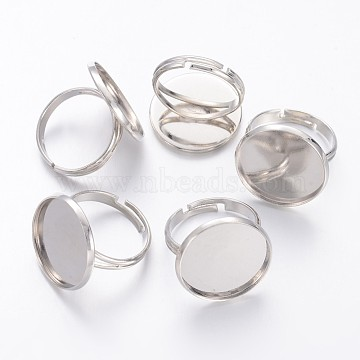 Platinum Brass Ring Components