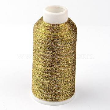 Round Metallic Cord, 9-Ply, Colorful, 0.8mm, about 328.08 yards(300m)/roll(MCOR-G001-0.8mm-25)