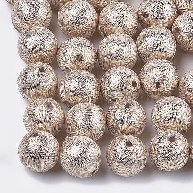 17mm NavajoWhite Round Polyester Beads