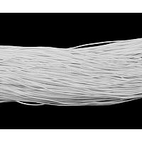 cordon élastique, blanc, environ1 mm d'épaisseur, environ 25.15~27.34 yards(23~25m)/paquet