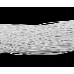 Elastic Cord, White, about 1mm thick, about 23~25m/bundle(X-YRB1MM-6)
