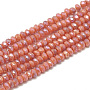 3mm Salmon Foncé Rondelle Verre Perles(X-EGLA-Q112-B10)