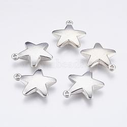 пластиковый кулон ccb, звезда, платина и золотые, 33x29.5x7 mm, отверстия: 2 mm(CCB-P006-031)