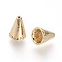 Brass Bead Cones, Golden, 10x7.5mm, Hole: 1~5.5mm