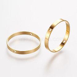 Cadres de perles en laiton, anneau, or, 20x2mm, trou: mm 0.6; 18.5 mm de diamètre intérieur(X-KK-F696-20mm-G)