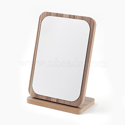 Wooden Mirrors, Rectangle, BurlyWood, 16x10x24.5cm(MJEW-F001-01-B)