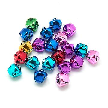Iron Bell Charms, Mixed Color, 8mm(IFIN-S690-8mm-M)