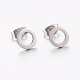 304 Stainless Steel Ear Studs(X-EJEW-E225-02P)-2
