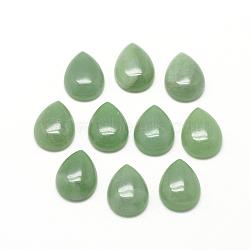 Cabochons d'aventurine vert naturel, goutte , 13~14x9~10x5mm(X-G-R417-10x14-43)