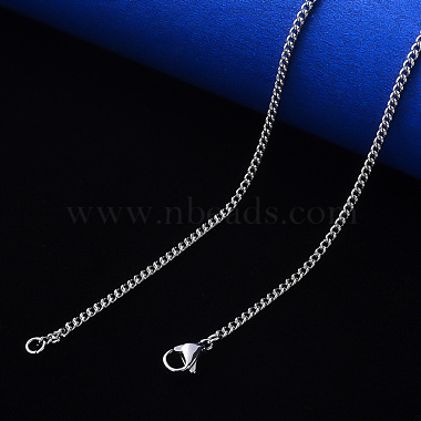 304 Stainless Steel Curb Chain Necklace Making(NJEW-S420-001A-P)-4
