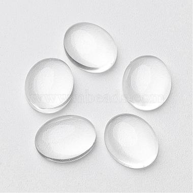 10mm Clear Oval Glass Cabochons