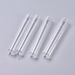 (vente de clôture défectueuse), contenants de perles tubes en plastique transparent, effacer, 75x13 mm(CON-XCP0004-18)