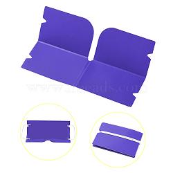 Organisateur de clip de rangement en plastique pliable portable, pour couvre-bouche jetable, mauve, 190x120x0.3mm(AJEW-E034-71H)