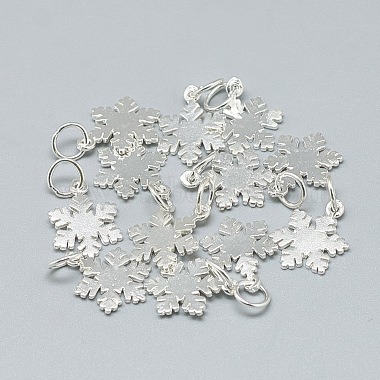 Silver Snowflake Sterling Silver Charms