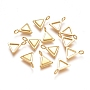 Golden Triangle Stainless Steel Charms(STAS-F222-023G)