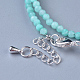 Natural Amazonite Beaded Necklaces(NJEW-K114-A-A07)-3