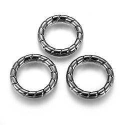 Anneaux de liaison en plastique CCB, anneau, gunmetal, 35x6.5mm, environ 24 mm de diamètre intérieur(CCB-G006-184B)