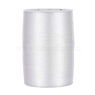 Elastic Crystal Thread, Jewelry Beading Cords, For Stretch Bracelet Making, Clear, 0.5mm, about 1093.61 yards(1000m)/roll(EW-R003-0.5mm)