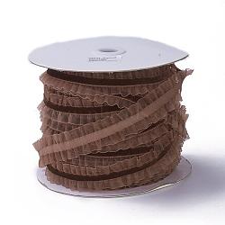 """Ruban élastique en nylon, avec de la dentelle, pour la fabrication de bijoux, coconutbrown, 1"""" (25 mm), 50yards / roll (45.72m / roll)(SRIB-I004-08C)"""