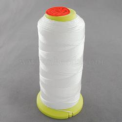 Fil à coudre de nylon, blanc, 0.8mm, environ 300 m / bibone (NWIR-Q005-44)