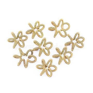 Unplated Flower Brass Beads