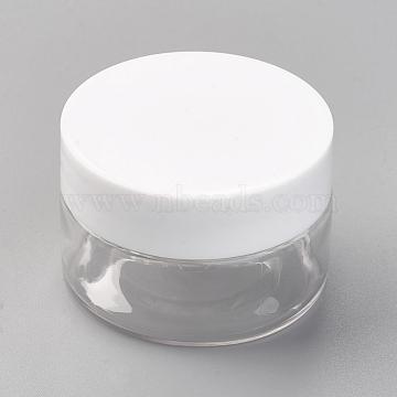 Contenants de perles en plastique transparent, colonne, clair, 5x3.3 cm(X-CON-WH0028-01A)