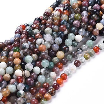 Natural Gemstone Beads Strands, Dyed, Mixed Stone, Round, 7.5~8.5mm, Hole: 0.8mm, about: 49pcs/Strand, 15 inches~15.5 inches(38~39cm)(G-F591-03-8mm)