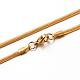 304 Stainless Steel Herringbone Chain Necklaces(X-STAS-M174-015G-03)-1