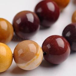 """Mookaite naturelle brins de pierres précieuses perles rondes, 10mm, trou: 1mm; environ 37 pcs/chapelet, 14.9""""(G-J333-06-10mm)"""