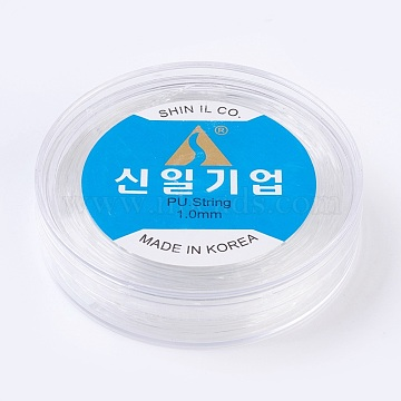 Korean Elastic Crystal Thread, For Jewelry Making, Clear, 1mm, about 32.8 yards(30m)/roll(EW-F008-1mm)