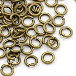 Antique Bronze Round Brass Close but Unsoldered Jump Rings(JRC5MM-AB)