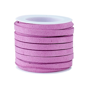 Faux Suede Cord, Faux Suede Lace, Medium Orchid, 4x1.5mm, about 5.46 yards(5m)/roll(X-LW-R003-4mm-1070)
