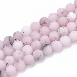 """Chapelets de perles de fleur de cerisier en jaspe naturel, mat, rond, 10~10.5mm, trou: 1.2mm; environ 36 pcs/chapelet, 15.5""""(X-G-T106-277)"""