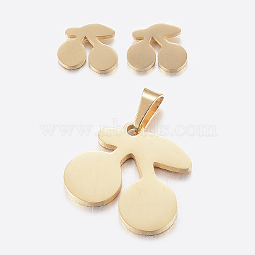 Fruit Stainless Steel Stud Earrings & Pendants