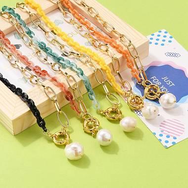 Natural Baroque Pearl Keshi Pearl Pendant Necklaces(NJEW-JN03149)-4