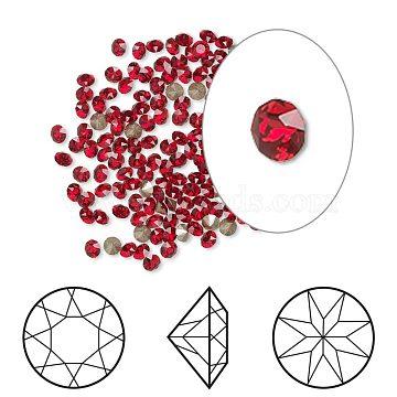 Austrian Crystal Rhinestone Cabochons, Crystal Passions, Foil Back, Xirius Round, 1088, 227_Light Siam, 8.164~8.421mm(X-1088-SS39-F227)