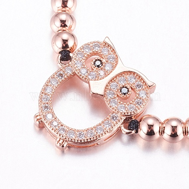 Adjustable Brass Braided Beaded Bracelets(BJEW-F282-01-RS)-4